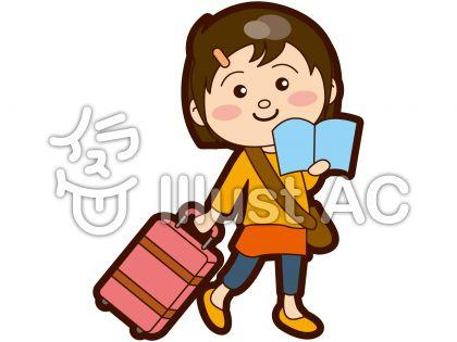 旅行中の女の子